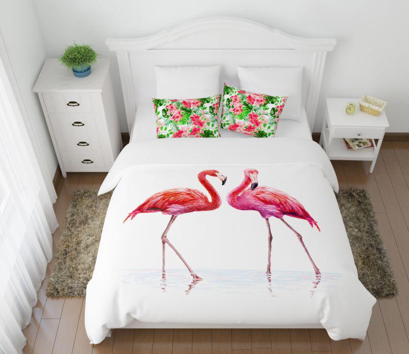 Постельное белье Сирень Постельное белье Фламинго (семейное) постельное белье сирень постельное белье фонотека семейное