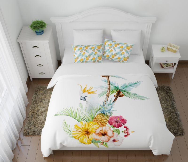 Постельное белье Сирень Постельное белье Попугай Ария (2 сп. евро) постельное белье сирень постельное белье евро кпб рай