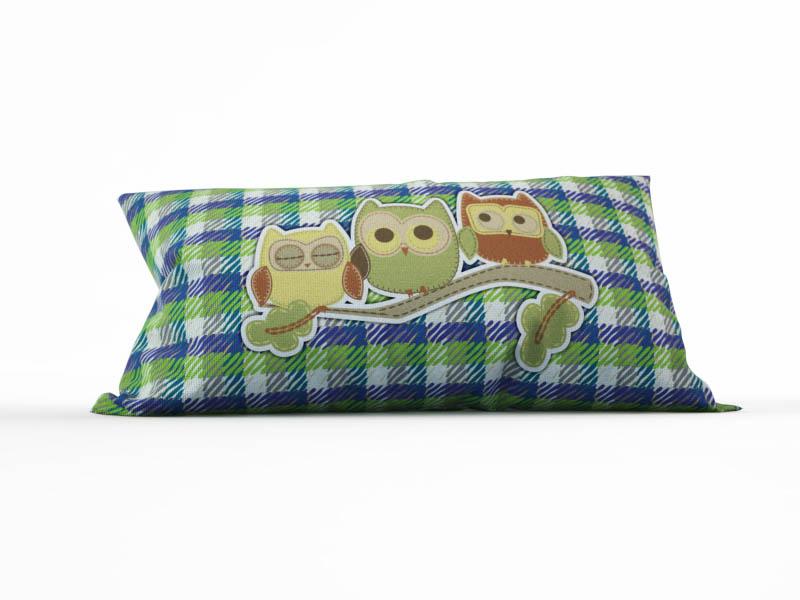 где купить Декоративные подушки StickButik Декоративная подушка Сонные Совята (25х45) по лучшей цене