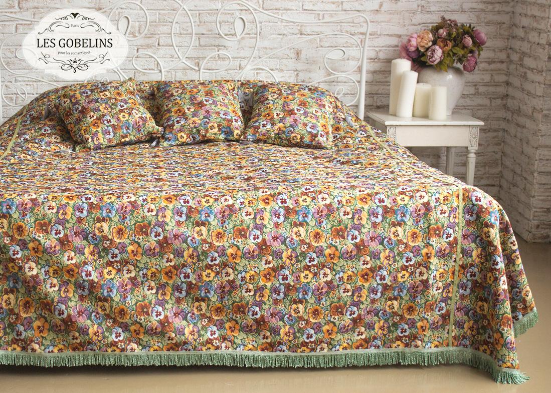 все цены на  Les Gobelins Покрывало на кровать Fleurs De Jardin (260х230 см)  в интернете