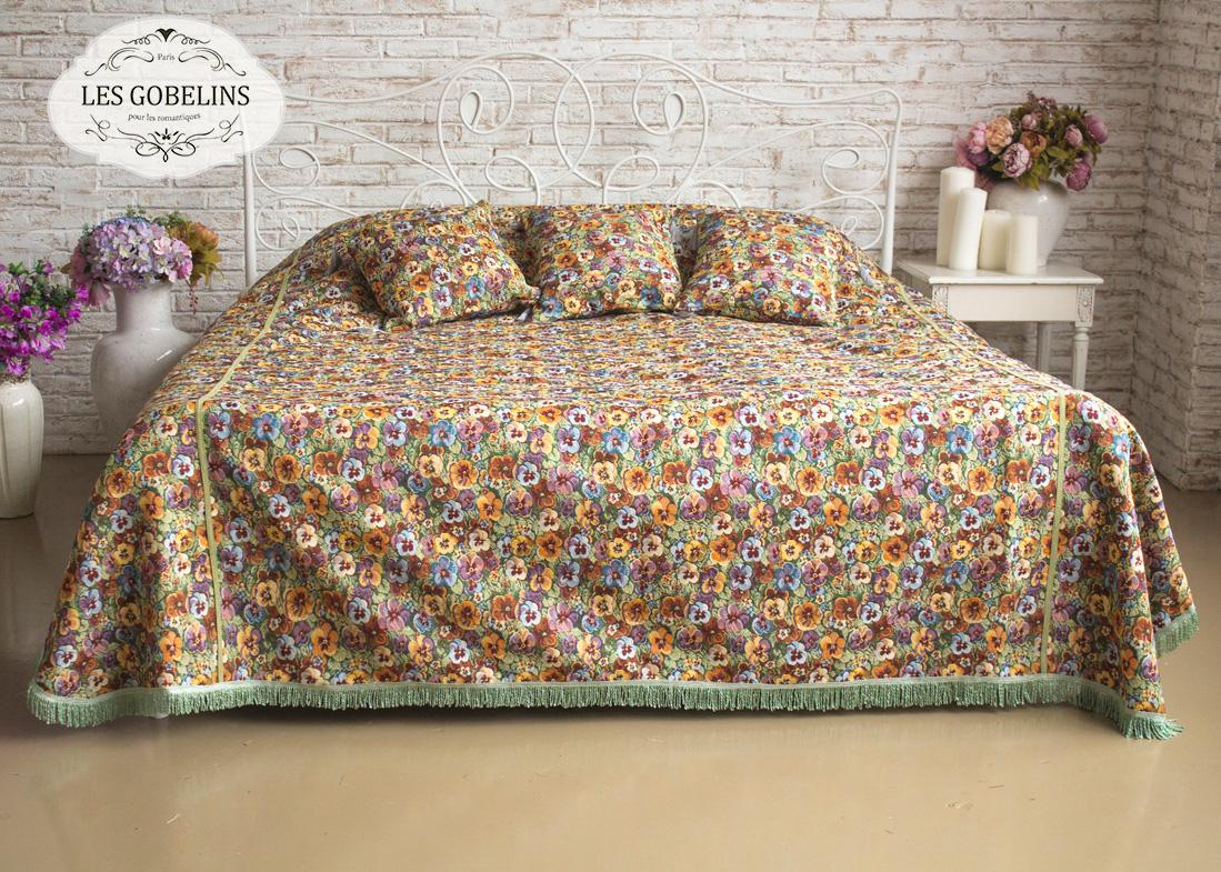Покрывало Les Gobelins Покрывало на кровать Fleurs De Jardin (240х260 см) les gobelins les gobelins покрывало на кровать fleurs de jardin 160х220 см