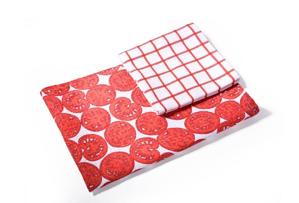 {} Soavita Кухонное полотенце Помидор (40х60 см - 4 шт) полотенце кухонное soavita цвет коралловый диаметр 65 см 48800