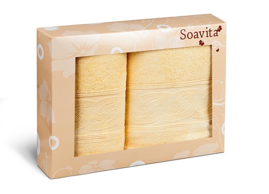 Полотенца Soavita Полотенце Жемчуг Цвет: Желтый (Набор) intex с трусами 67 см