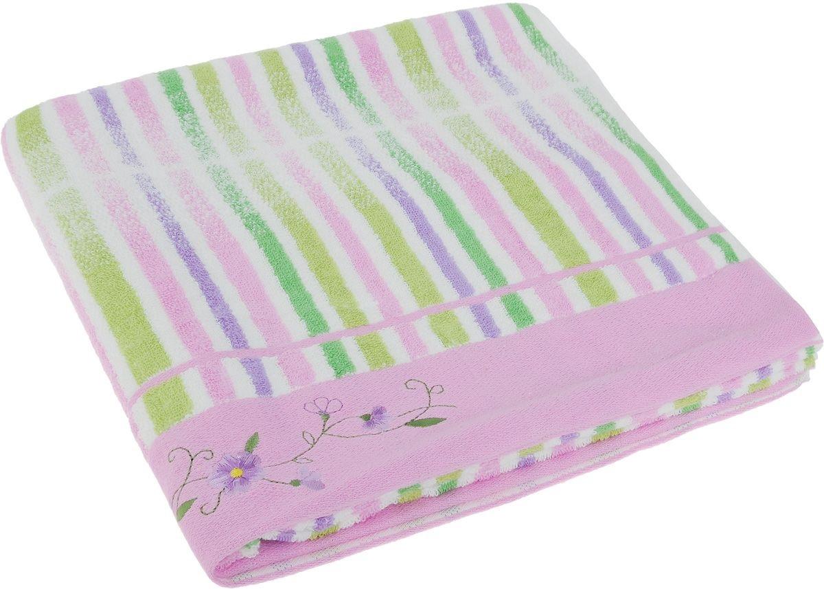 Полотенца Soavita Полотенце Lily Цвет: Розовый (70х140 см) полотенце махровое soavita df светлая клетка цвет розовый 70 х 140 см