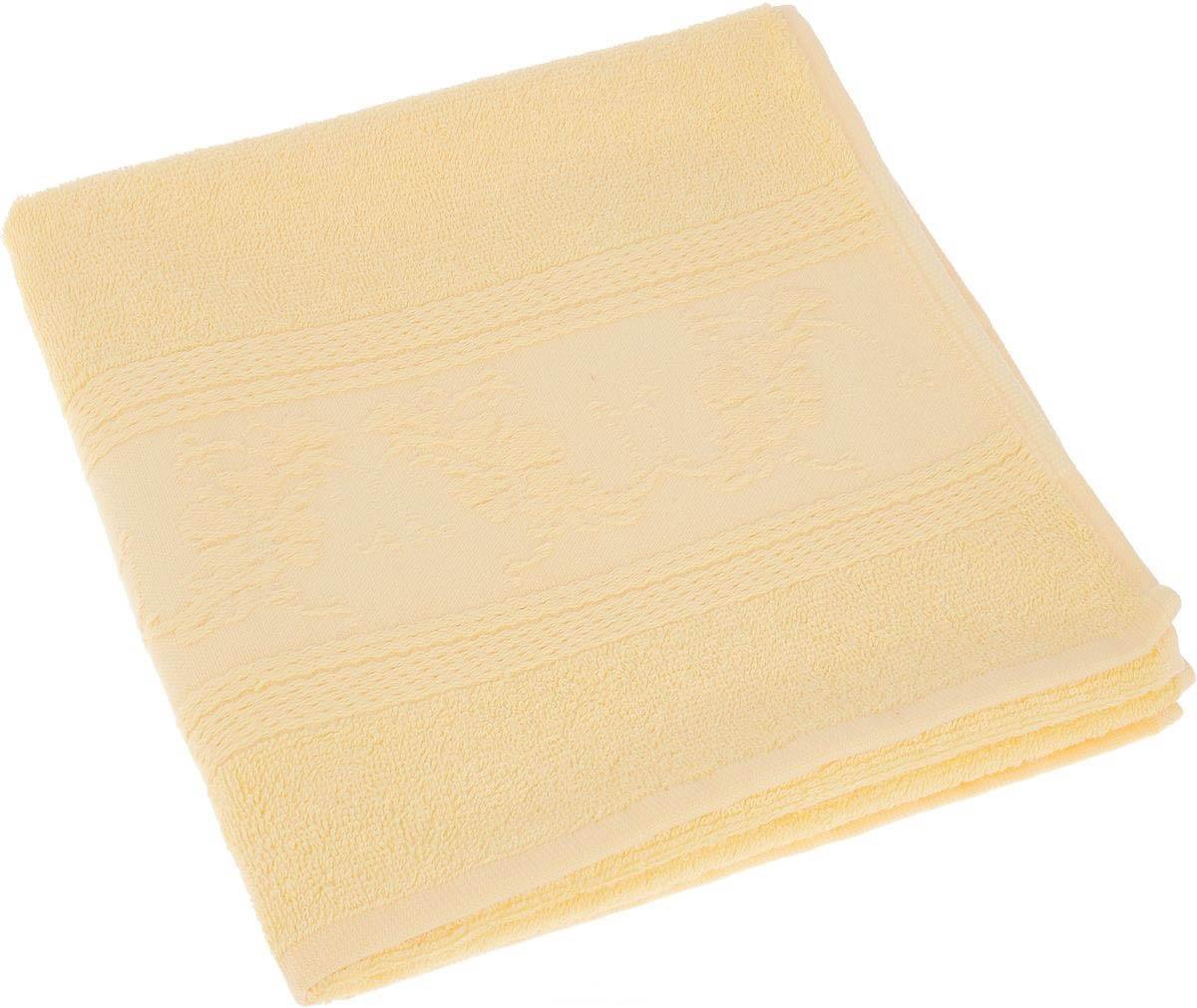 где купить Полотенца Soavita Полотенце Цветы Цвет: Желтый (50х70 см) по лучшей цене