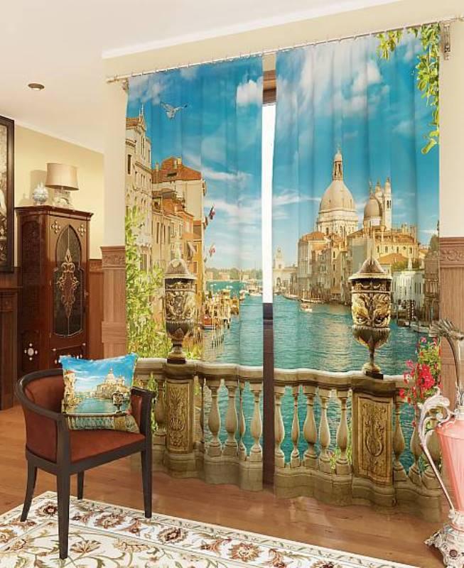 Шторы ТомДом Фотошторы Утренняя Венеция