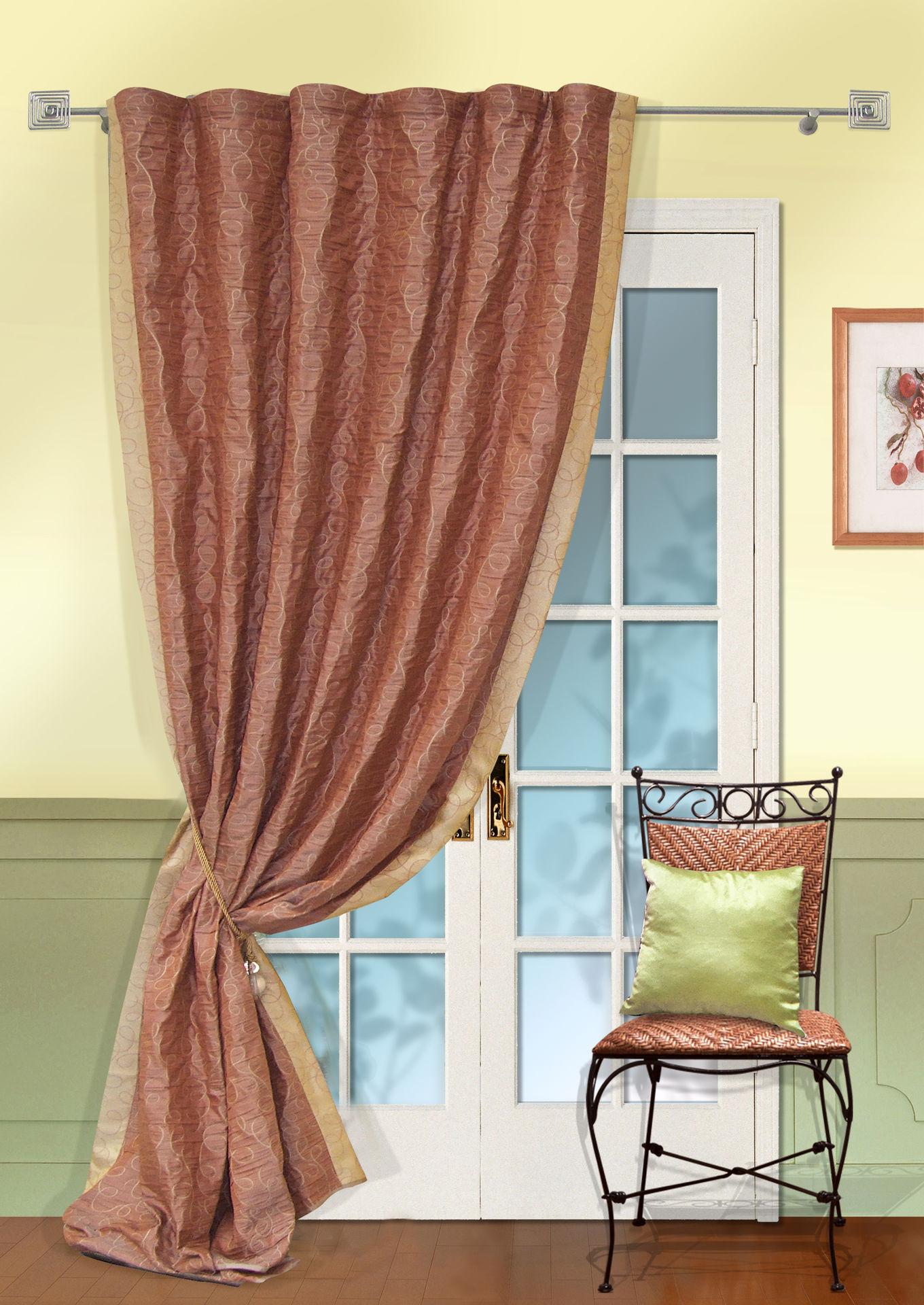 Шторы Kauffort Классические шторы Minor  -XL Цвет: Терракотовый шторы kauffort классические шторы barolo xl