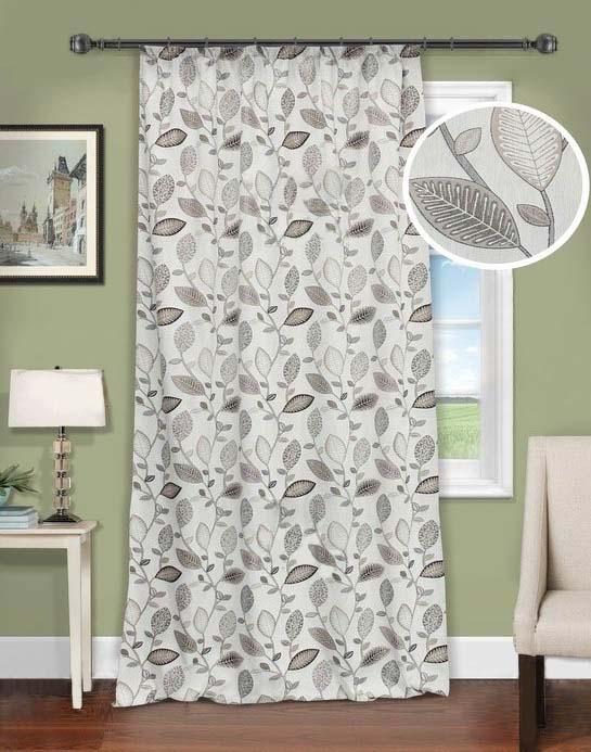 Шторы Kauffort Классические шторы Montana - XL Цвет: Серый шторы kauffort классические шторы barolo xl