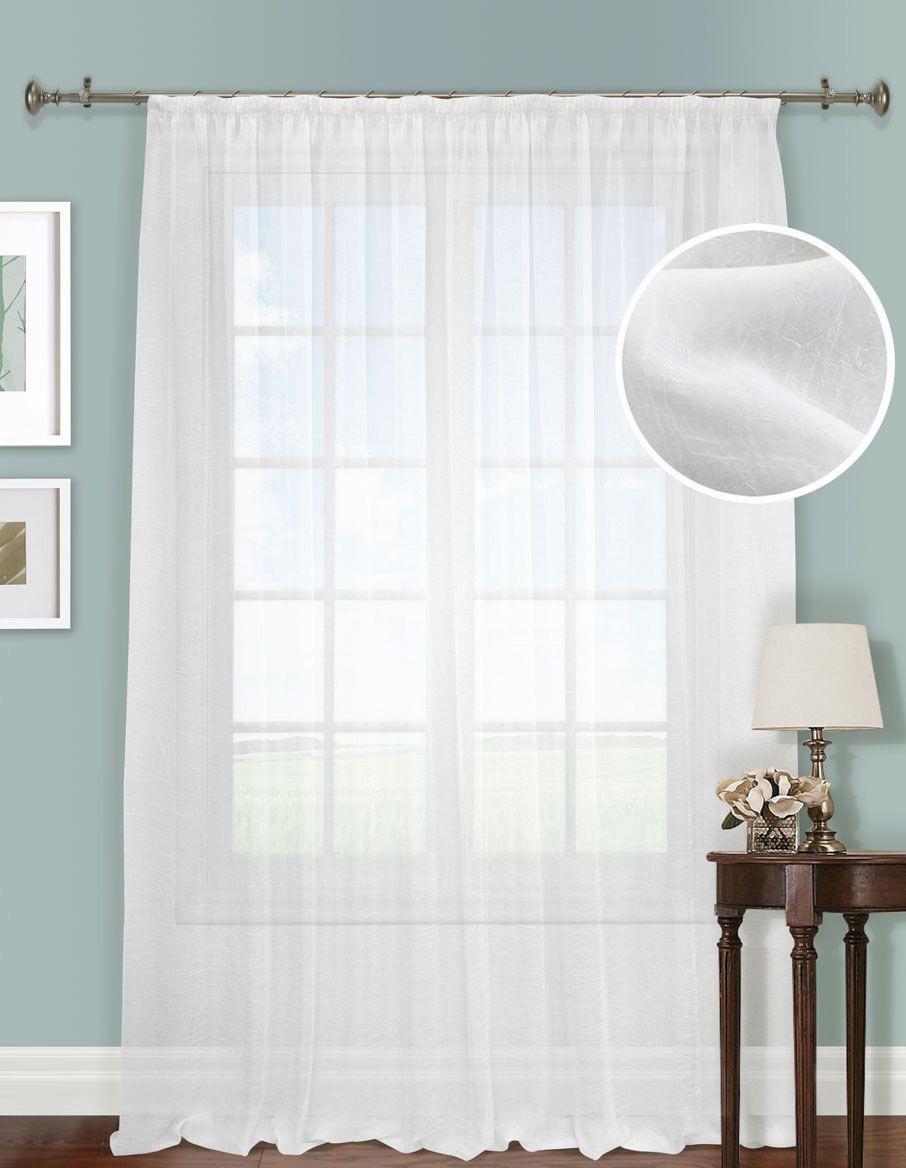Шторы Kauffort Классические шторы Cresh - XL Цвет: Белый шторы kauffort классические шторы barolo xl