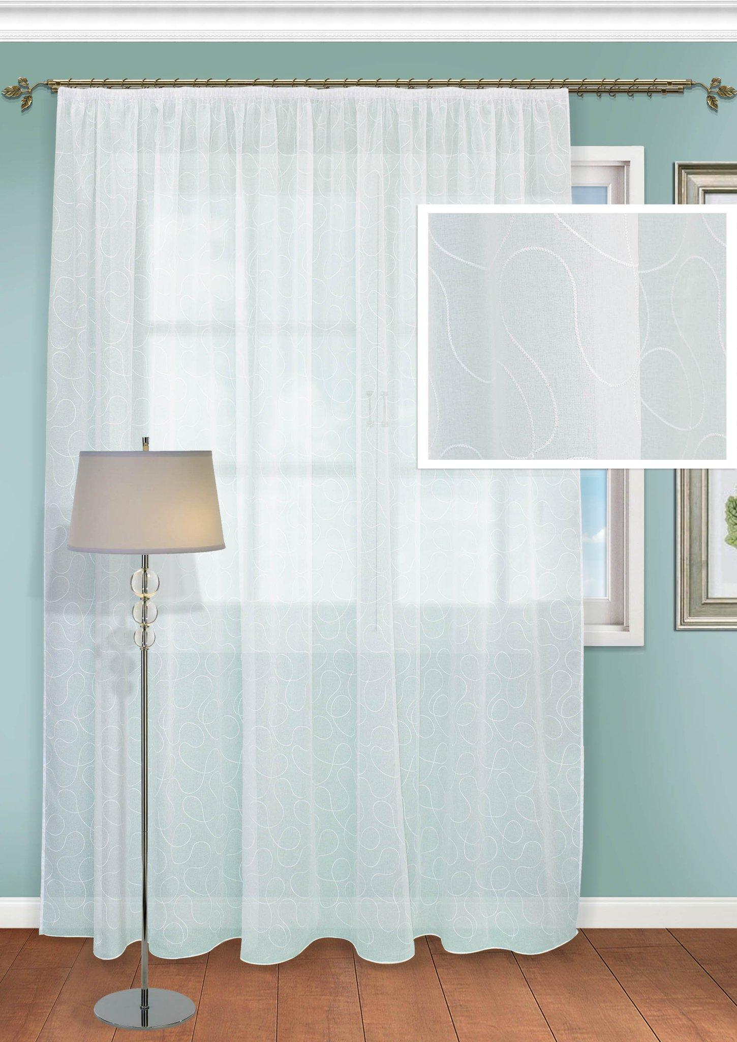 Шторы Kauffort Классические шторы Savayardi-XL Цвет: Белый шторы kauffort классические шторы barolo xl
