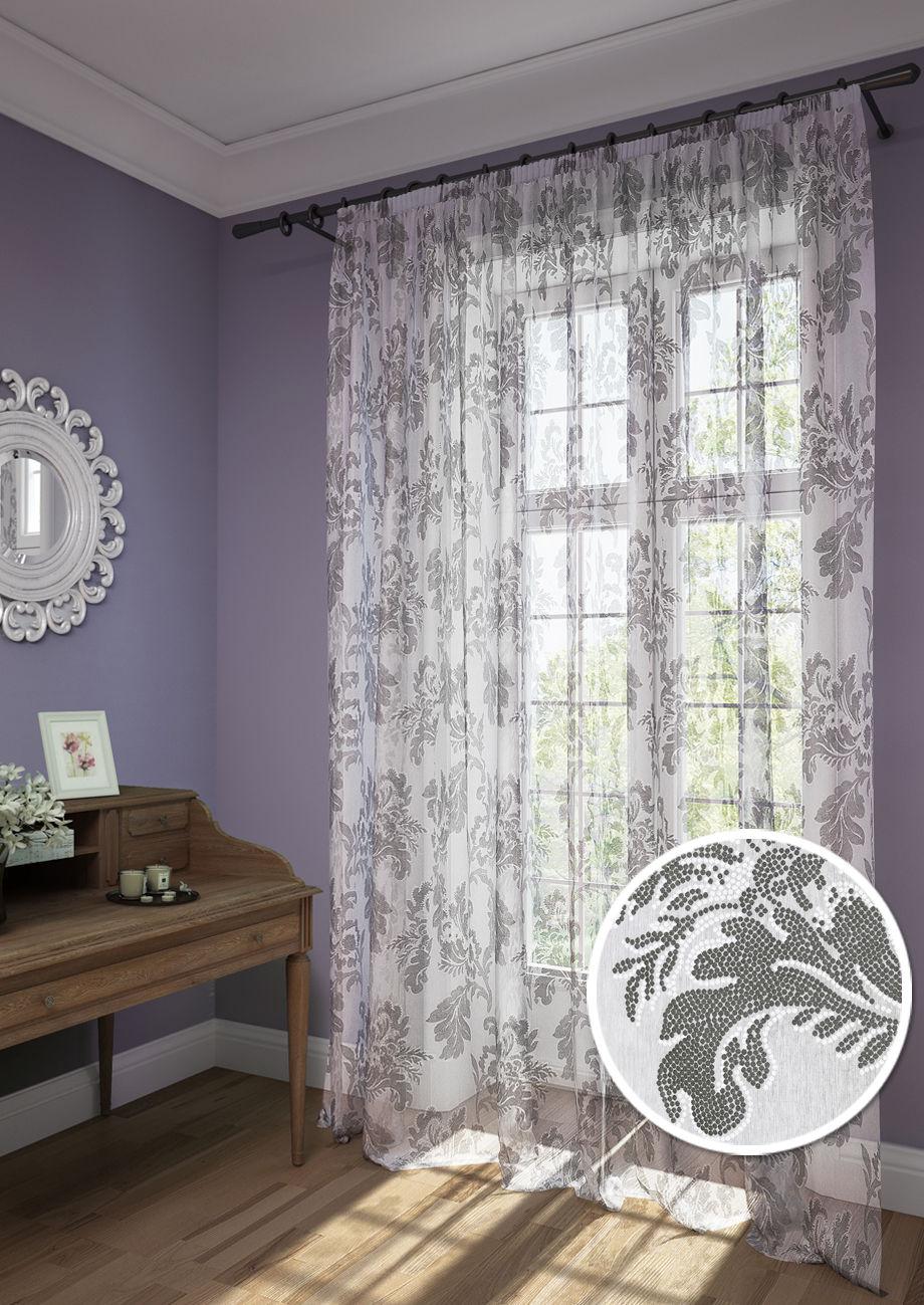 Шторы Kauffort Классические шторы Plumage - XL Цвет: Серый шторы kauffort классические шторы barolo