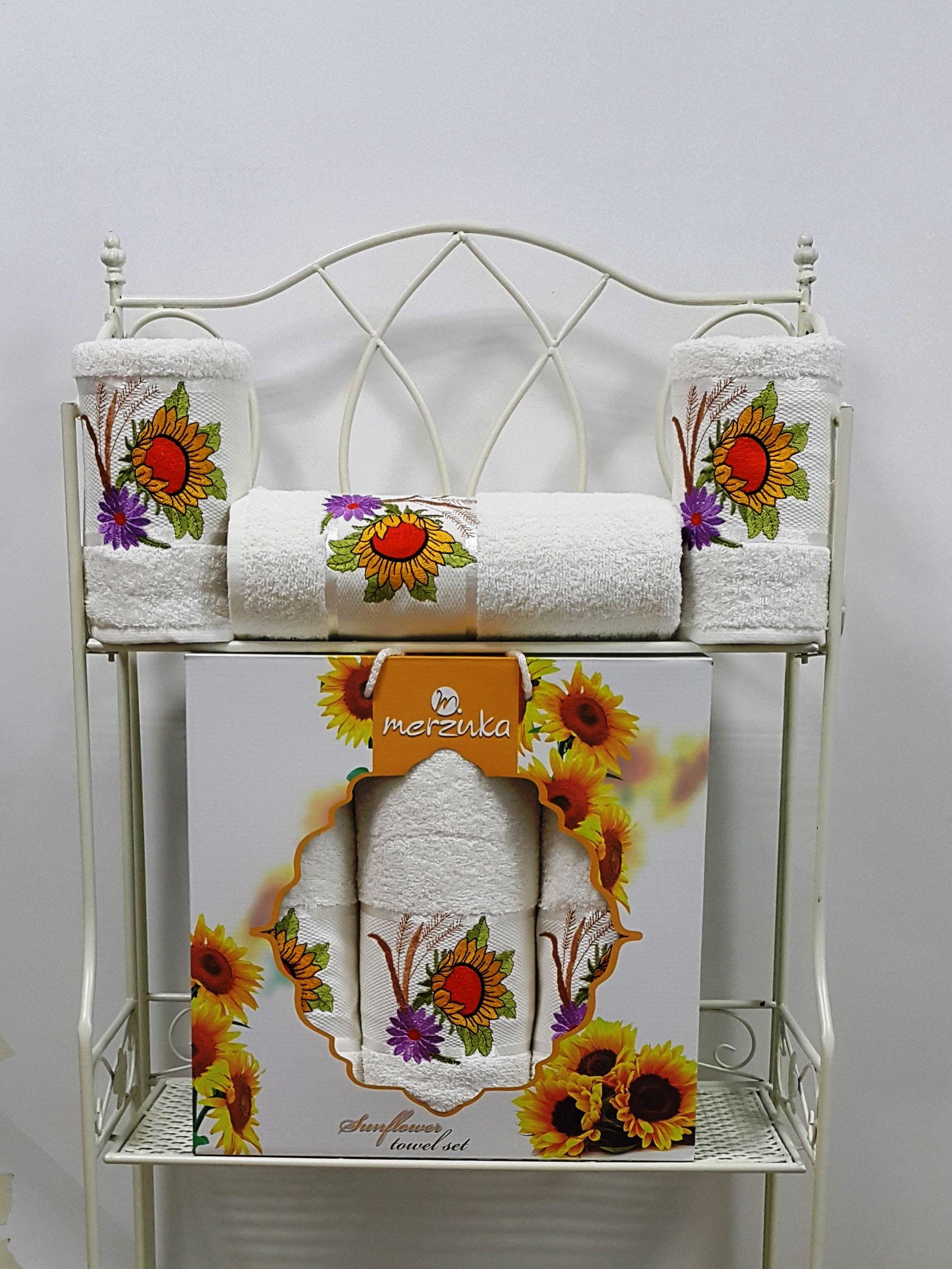 где купить  Полотенца Oran Merzuka Полотенце Sunflower Цвет: Кремовый (50х80 см - 2 шт,70х130 см)  по лучшей цене