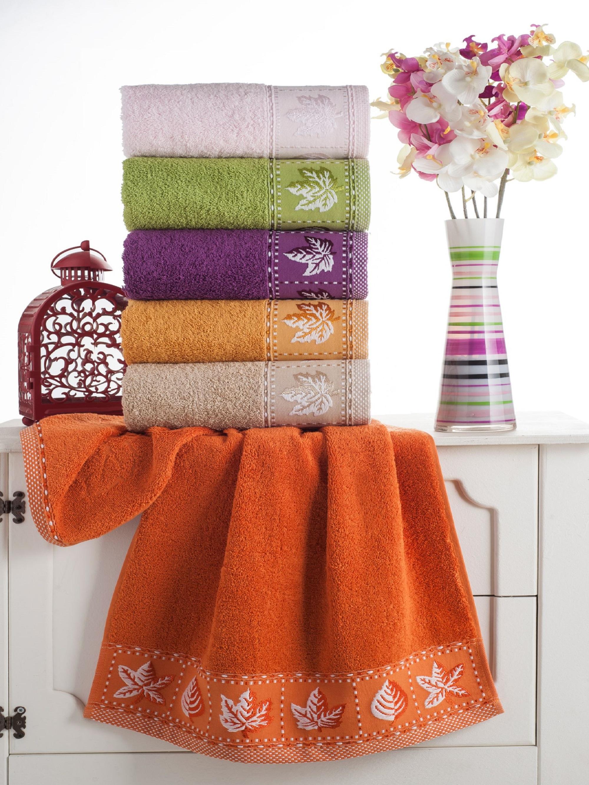 где купить  Полотенца Beautiful Rose Полотенце Листок (50х90 см - 6 шт)  по лучшей цене