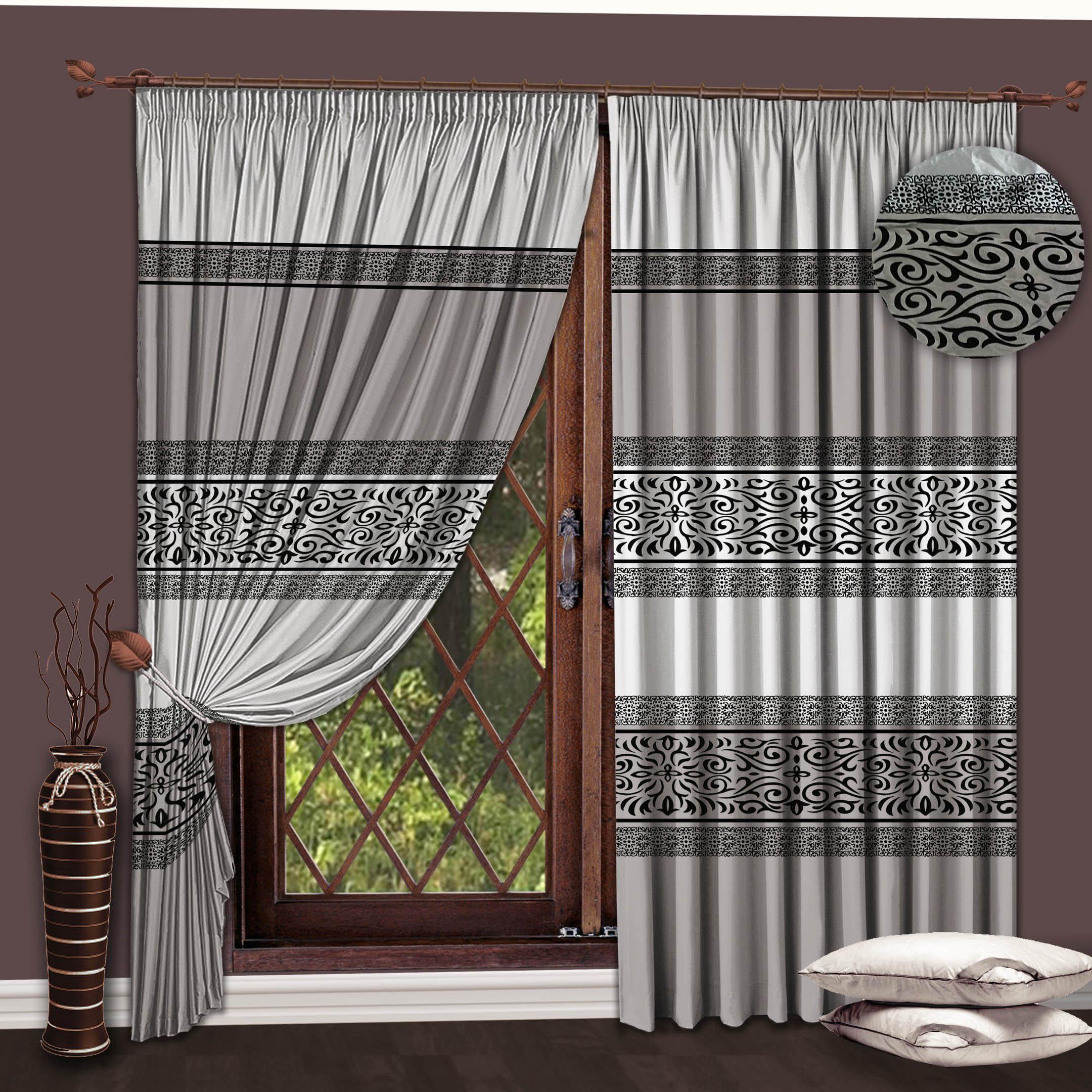 Шторы РеалТекс Классические шторы Essence Цвет: Серый-Черный реалтекс реалтекс классические шторы akina цвет бежевый бордовый
