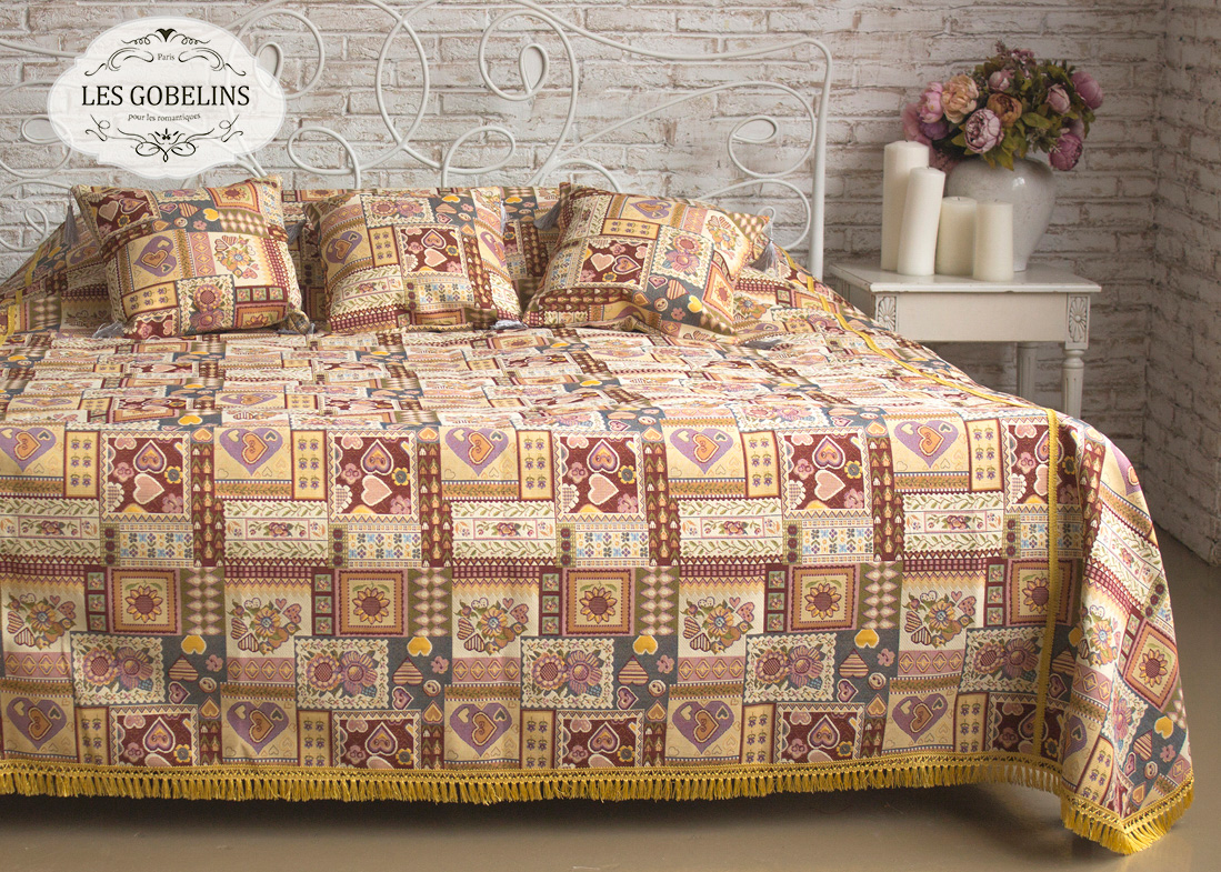 Покрывало на кровать Coeurs Espagnol (150х220 см) Les Gobelins
