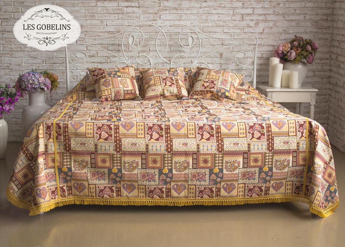 Покрывало Les Gobelins Покрывало на кровать Coeurs Espagnol (190х230 см) les gobelins les gobelins покрывало на кровать nymphe 190х230 см