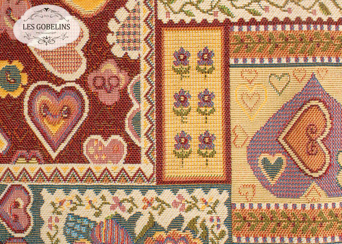 Покрывало Les Gobelins Накидка на диван Coeurs Espagnol (150х170 см)