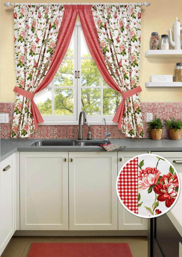 Шторы Kauffort Классические шторы Luly - S Цвет: Красный шторы kauffort классические шторы barolo s