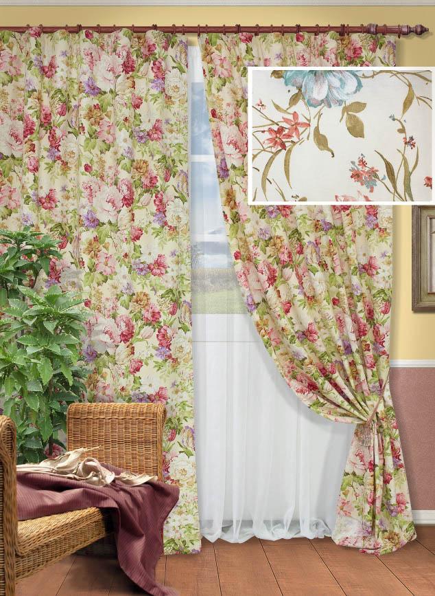 Шторы Kauffort Классические шторы Margotta - M Цвет: Красный шторы kauffort классические шторы barolo