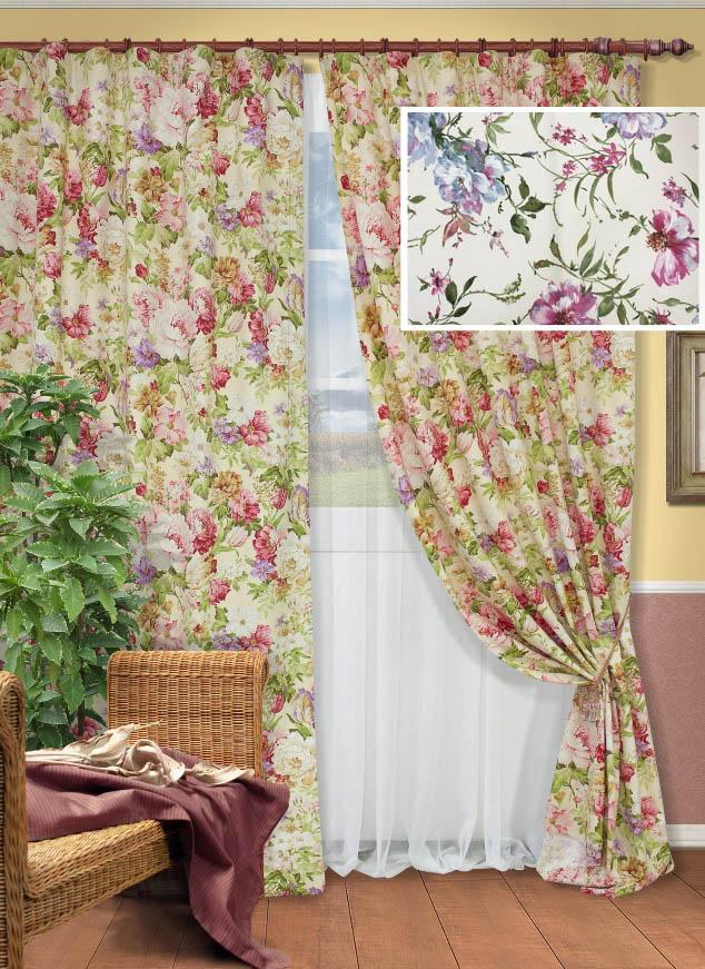Цветочный дизайн в шторах
