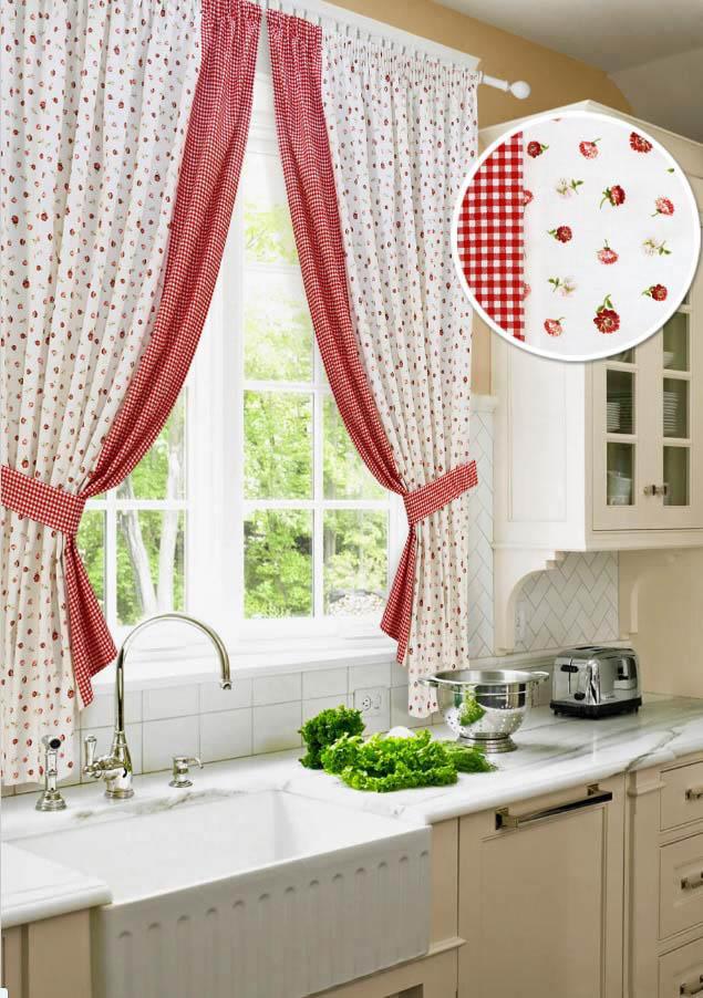 Шторы Kauffort Классические шторы Karen - S Цвет: Красный шторы kauffort классические шторы barolo s
