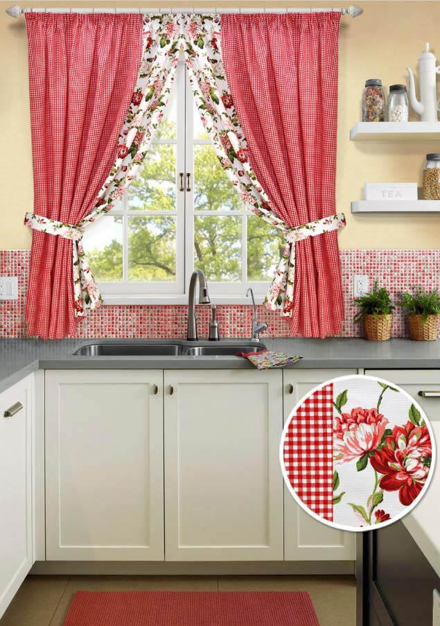 Шторы Kauffort Классические шторы Kimberly - S Цвет: Красный шторы kauffort классические шторы barolo s