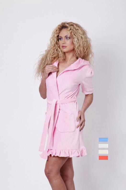 Домашние халаты Virginia Secret Домашний халат Breeda Цвет: Молочный (L-хL)