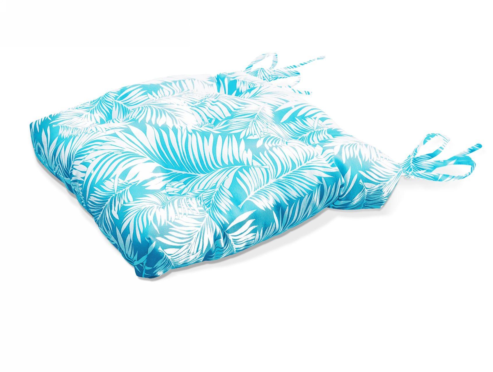Подушки на стул Kauffort Подушка на стул Palma Цвет: Небесно-Голубой (40х40) подушка на стул адмирал цвет голубой синий 40 х 40 см