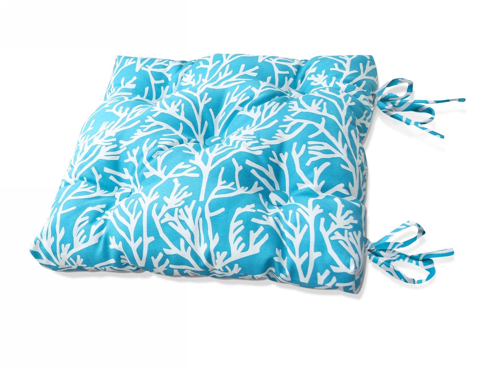 Подушки на стул Kauffort Подушка на стул Corals Цвет: Небесно-Голубой (40х40) подушка на стул адмирал цвет голубой синий 40 х 40 см