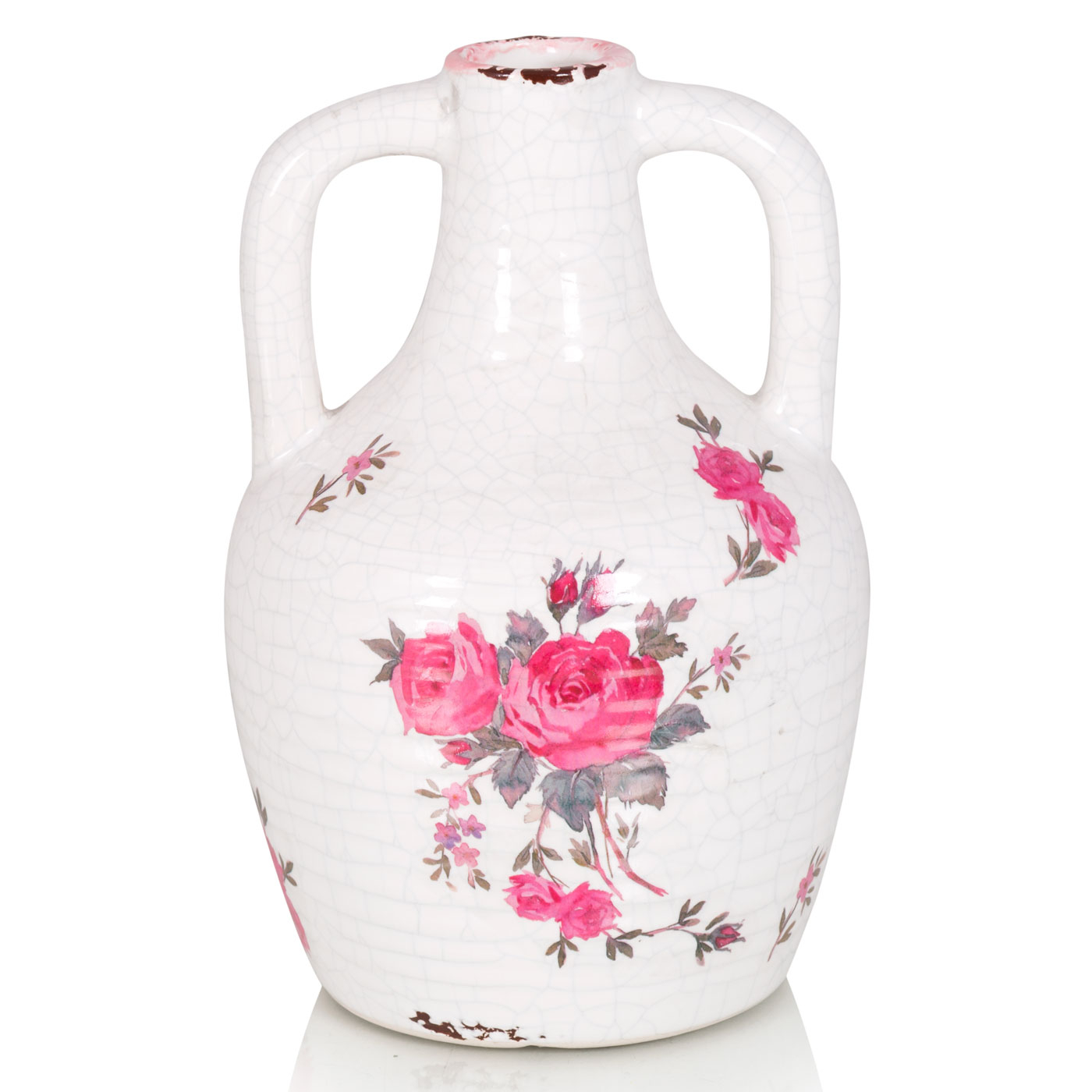 {} Home Philosophy Ваза-кувшин Susan Цвет: Бело-Розовый (11х18 см) ваза керамика розовый рассвет 18 12 8 5 см 863622
