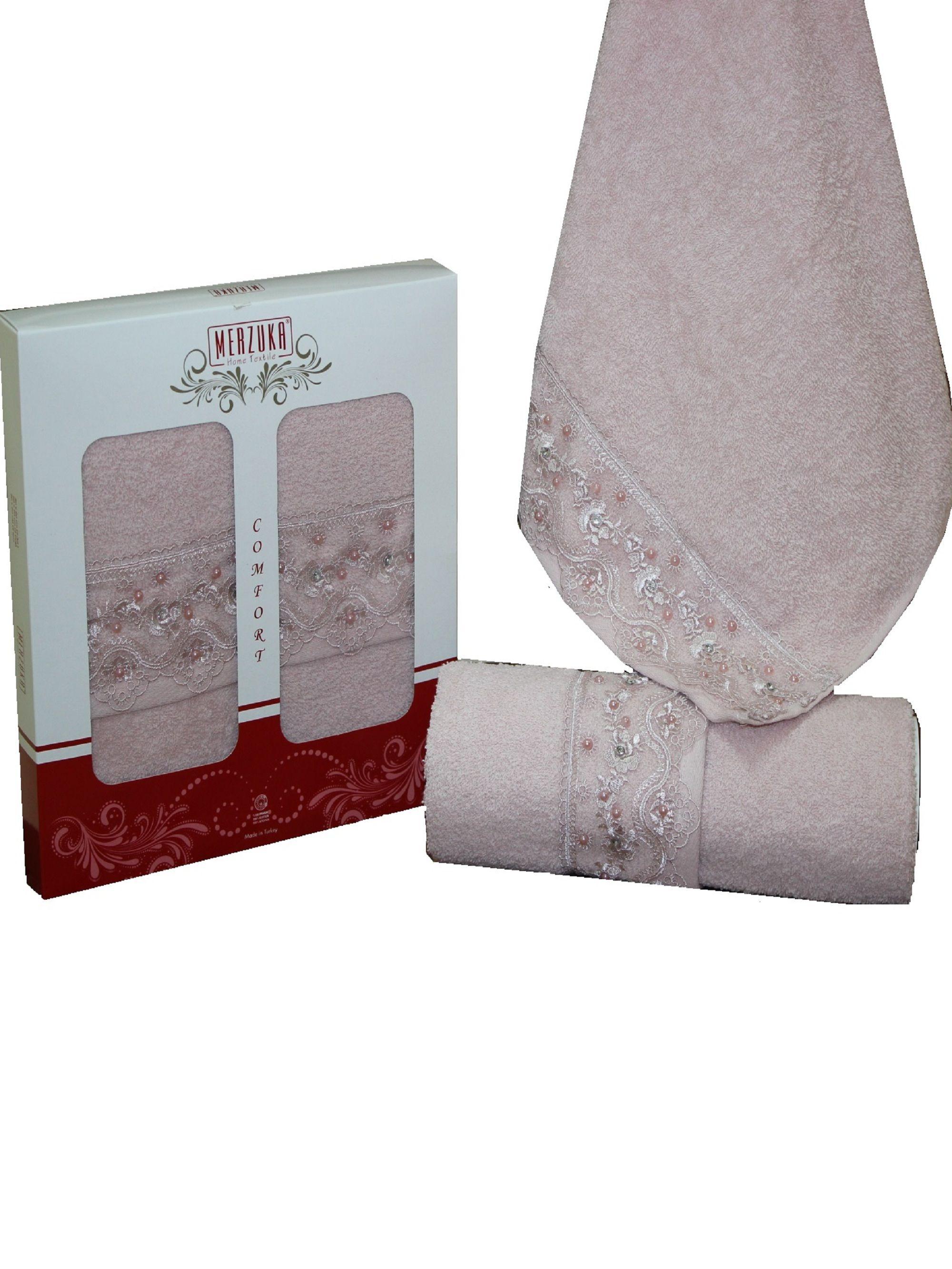 Полотенца Oran Merzuka Полотенце Elit Цвет: Розовый (50х90 см - 2 шт) набор из 3 полотенец merzuka sakura 50х90 2 70х140 8432 терракотовый
