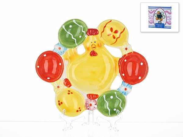 {} ENS GROUP Подставка для яиц Пасхальный Петушок (3х20х21 см)