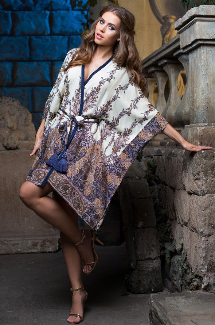 Домашние халаты Mia-Mia Домашний халат Shakira Цвет: Синий (xL) домашние халаты mia mia домашний халат yesenia xl