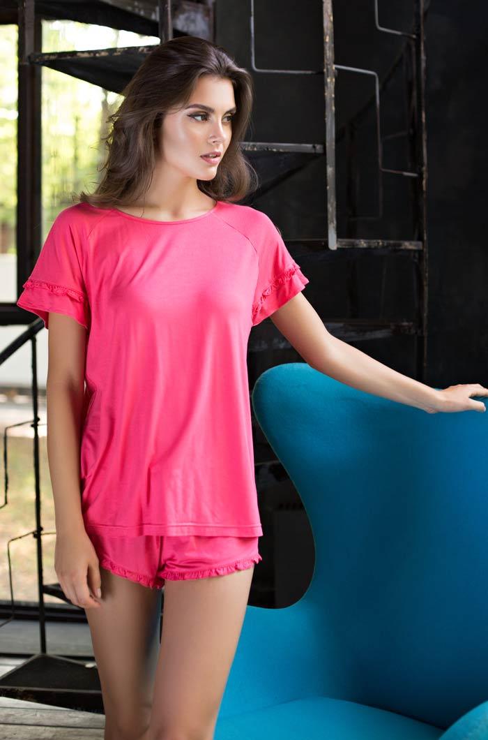 Пижамы Mia-Mia Пижама Gemma Цвет: Коралловый (M) riffi мочалка пояс двухсторонняя цвет коралловый