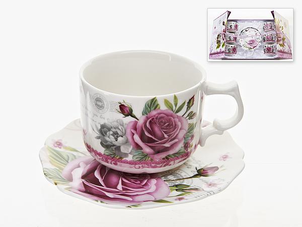 {} Best Home Porcelain Набор кружек Розовый Букет (220 мл)