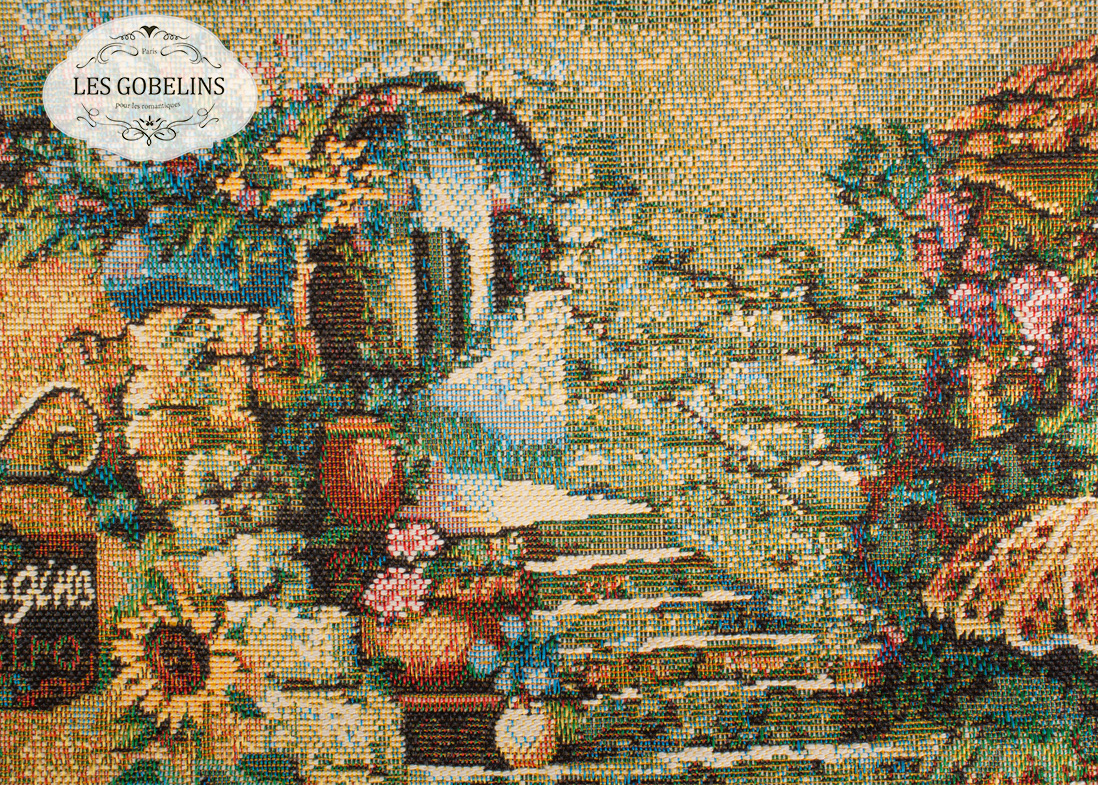 где купить Покрывало Les Gobelins Накидка на диван Jardin D'Eden (130х210 см) по лучшей цене