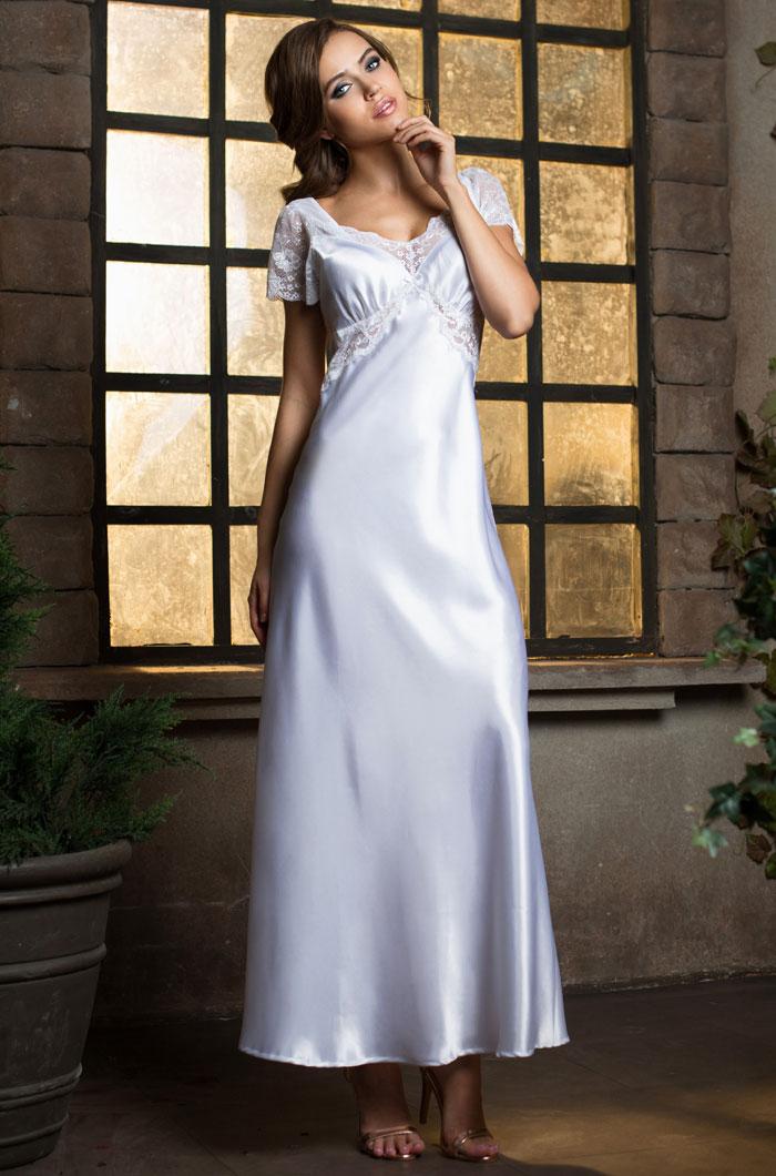 Ночные сорочки Mia-Mia Ночная сорочка Lady In White (xL) сорочка короткая mia mia lady in white белая m