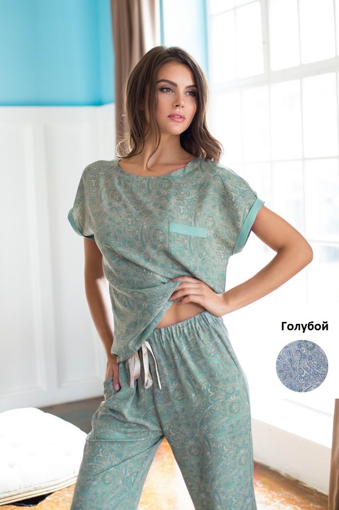Пижамы Mia-Mia Пижама Olivia Цвет: Голубой (L) пижама mia mia crystal бирюзовый l