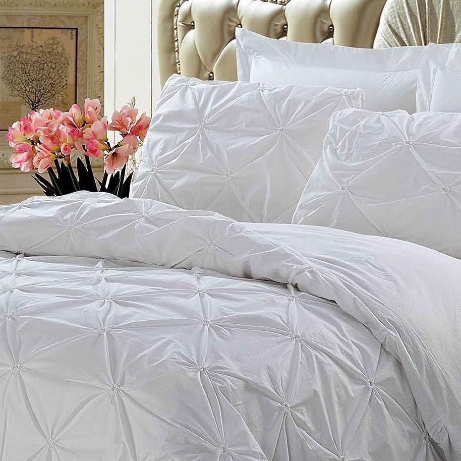 Постельное белье KingSilk Постельное белье Chasity Цвет: Белый (King size (Евро макси))