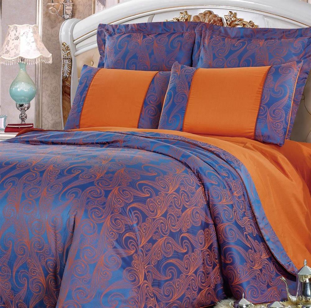 Постельное белье KingSilk Постельное белье Lorainne Цвет: Синий (King size (Евро макси))