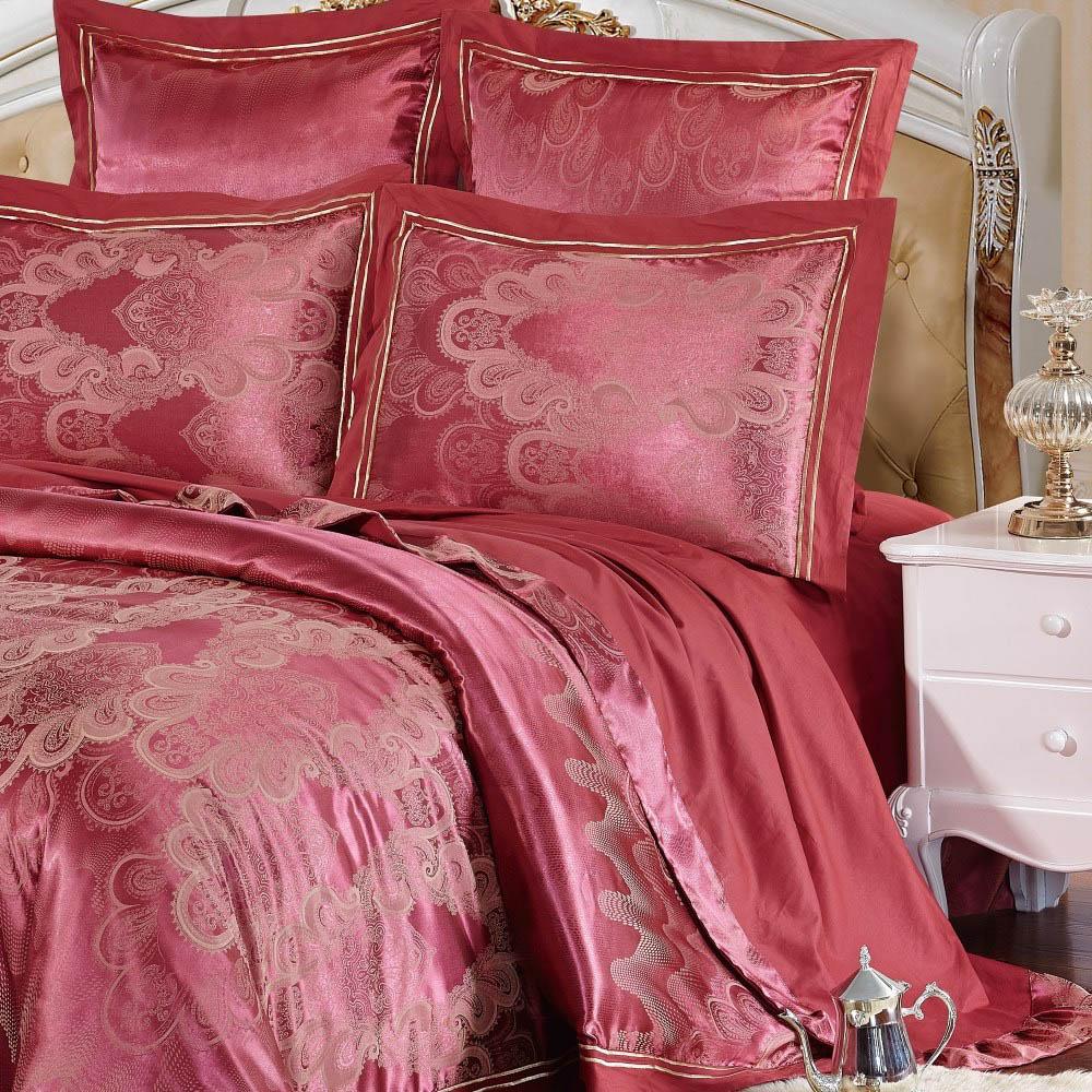 Постельное белье KingSilk Постельное белье Eustacia Цвет: Красный (King size (Евро макси))