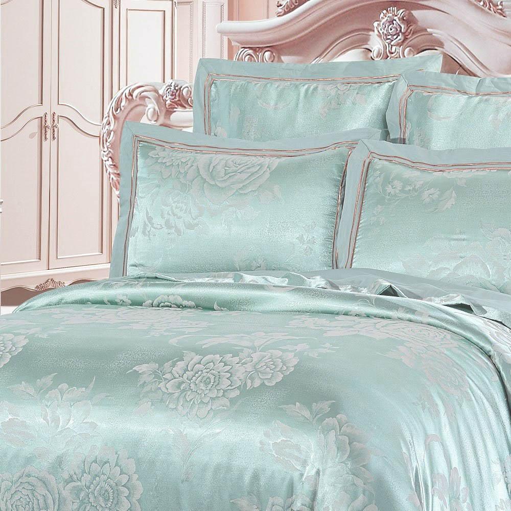 Постельное белье KingSilk Постельное белье Shevon Цвет: Мятный (King size (Евро макси))