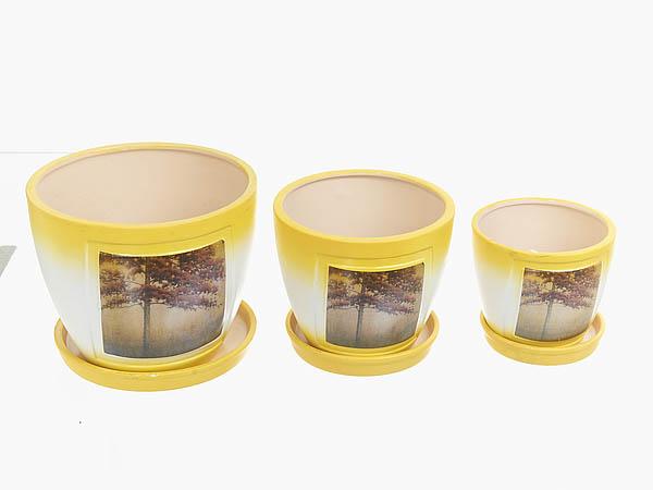 {} ENS GROUP Горшок для цветов Осень (Набор) салатник с крышкой ens group танго магнолия 1 6 л