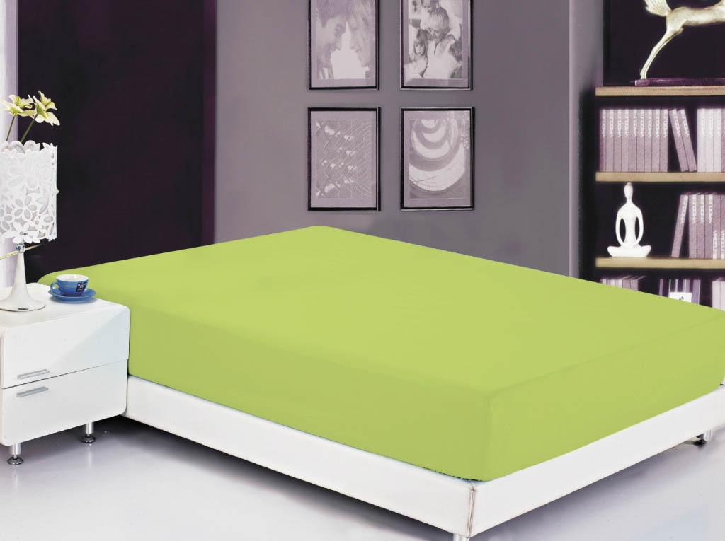 где купить  Простыни Valtery Простыня на резинке Roxy Цвет: Свежая Зелень (200х220)  по лучшей цене