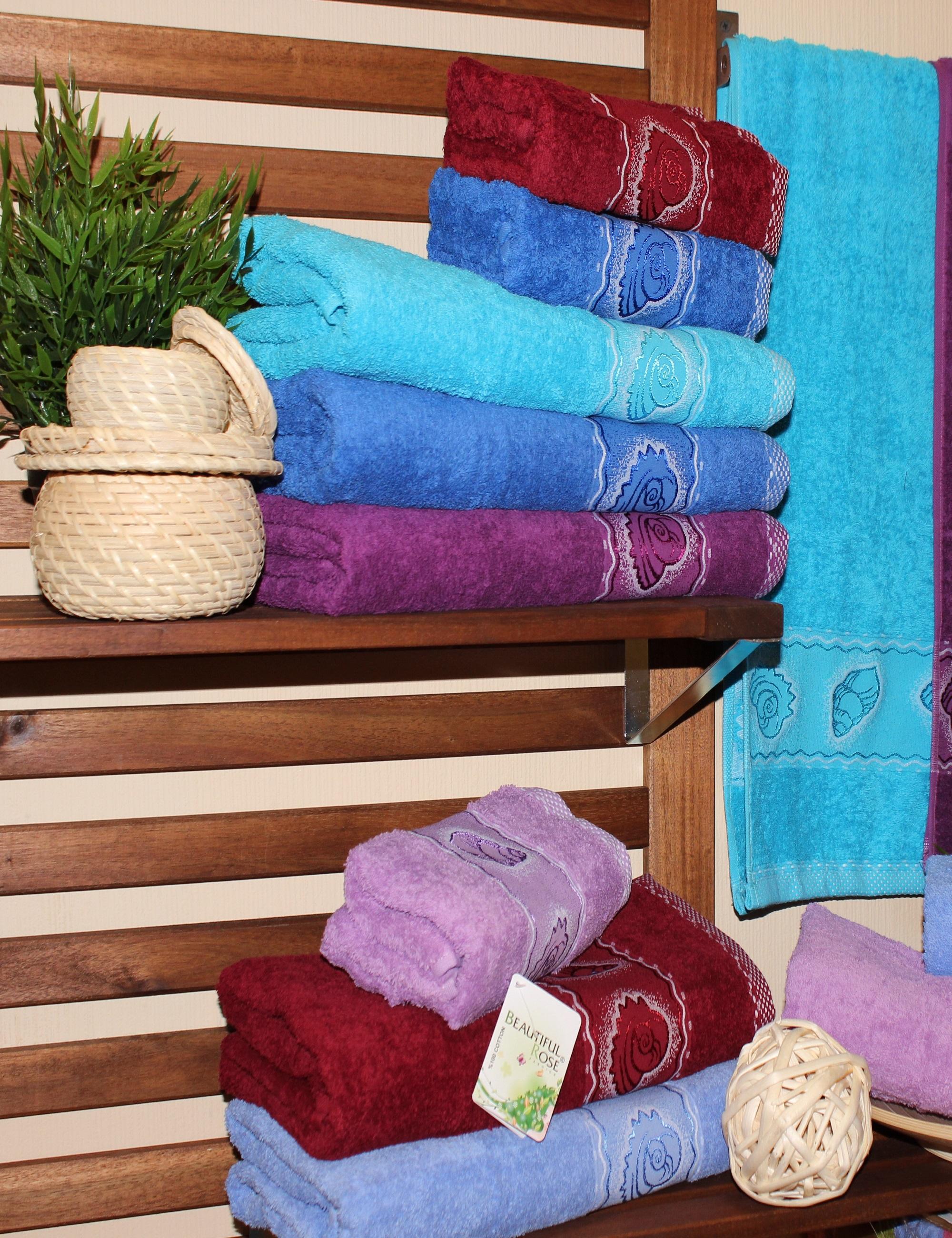 где купить  Полотенца Beautiful Rose Полотенце Ракушка (50х90 см - 6 шт)  по лучшей цене