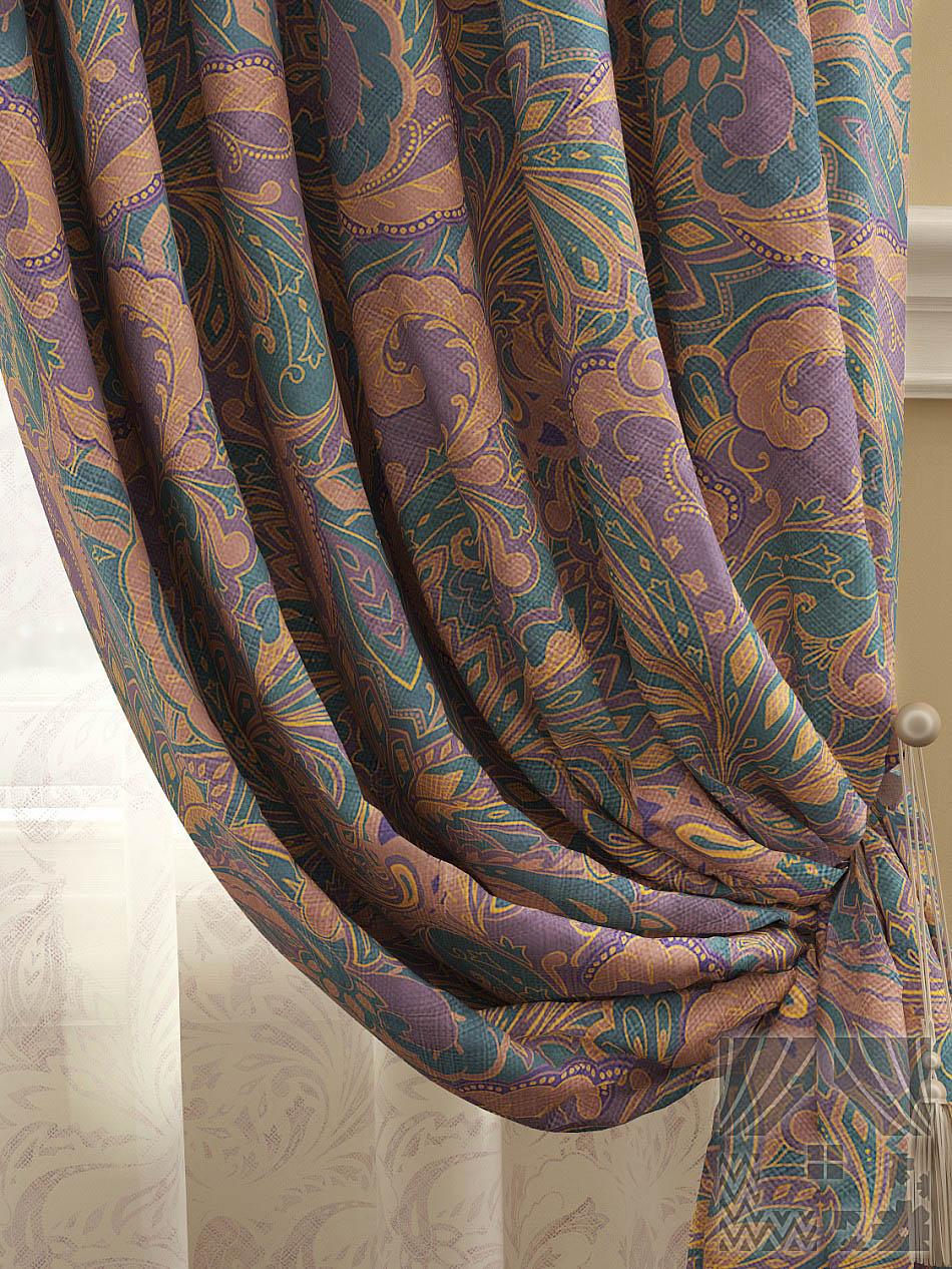 Шторы ТомДом Классические шторы Архелия Цвет: Фиолетово-синий