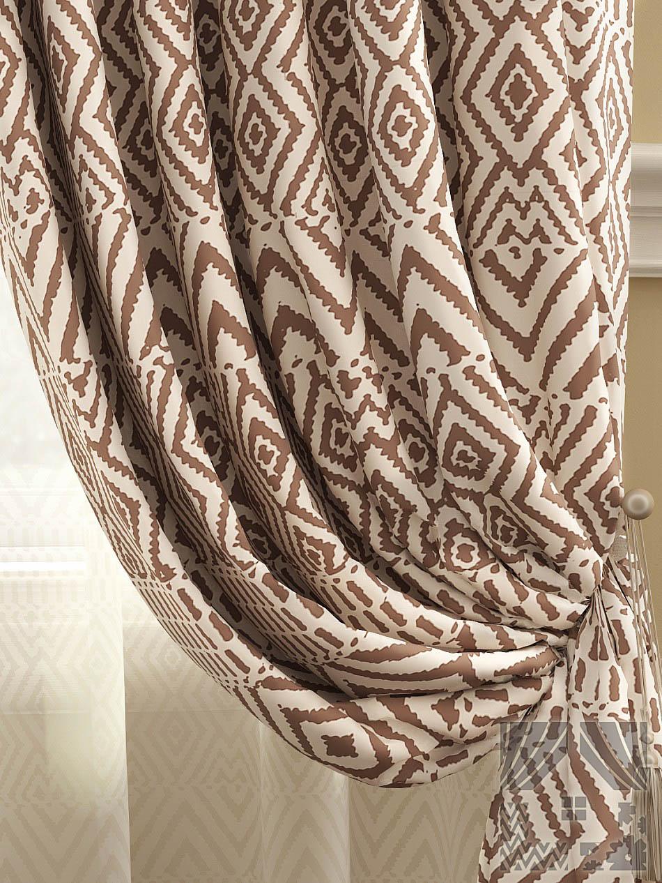 Шторы ТомДом Классические шторы Эйвуд Цвет: Коричневый томдом томдом классические шторы абель цвет малиновый