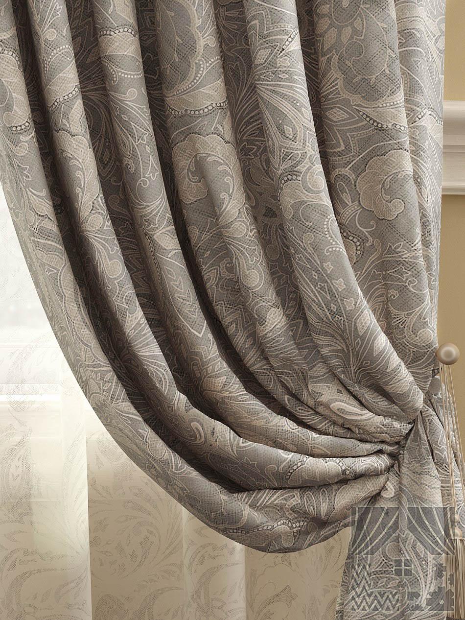 Шторы ТомДом Классические шторы Архелия Цвет: Серый