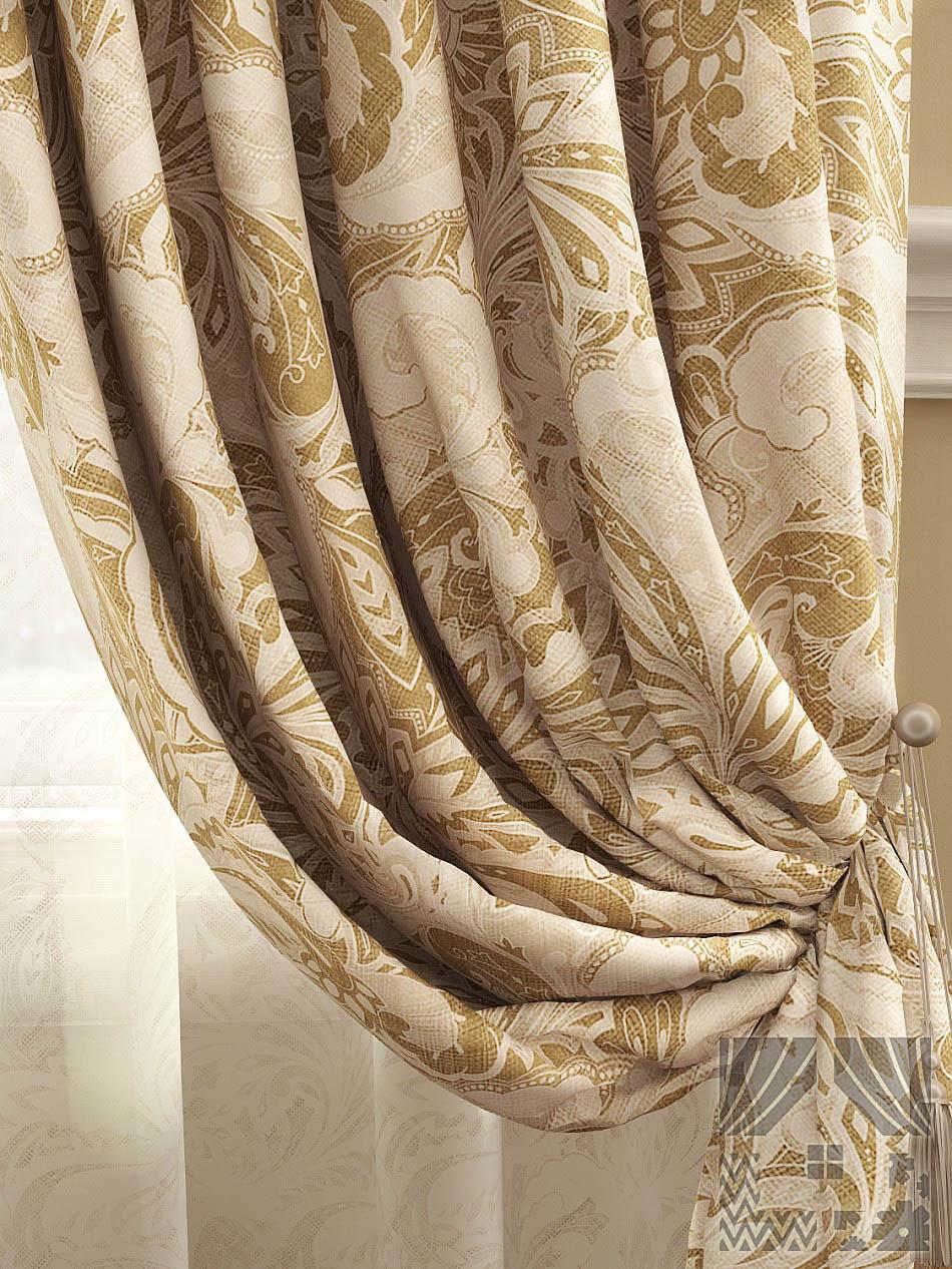 Шторы ТомДом Классические шторы Архелия Цвет: Бежевый