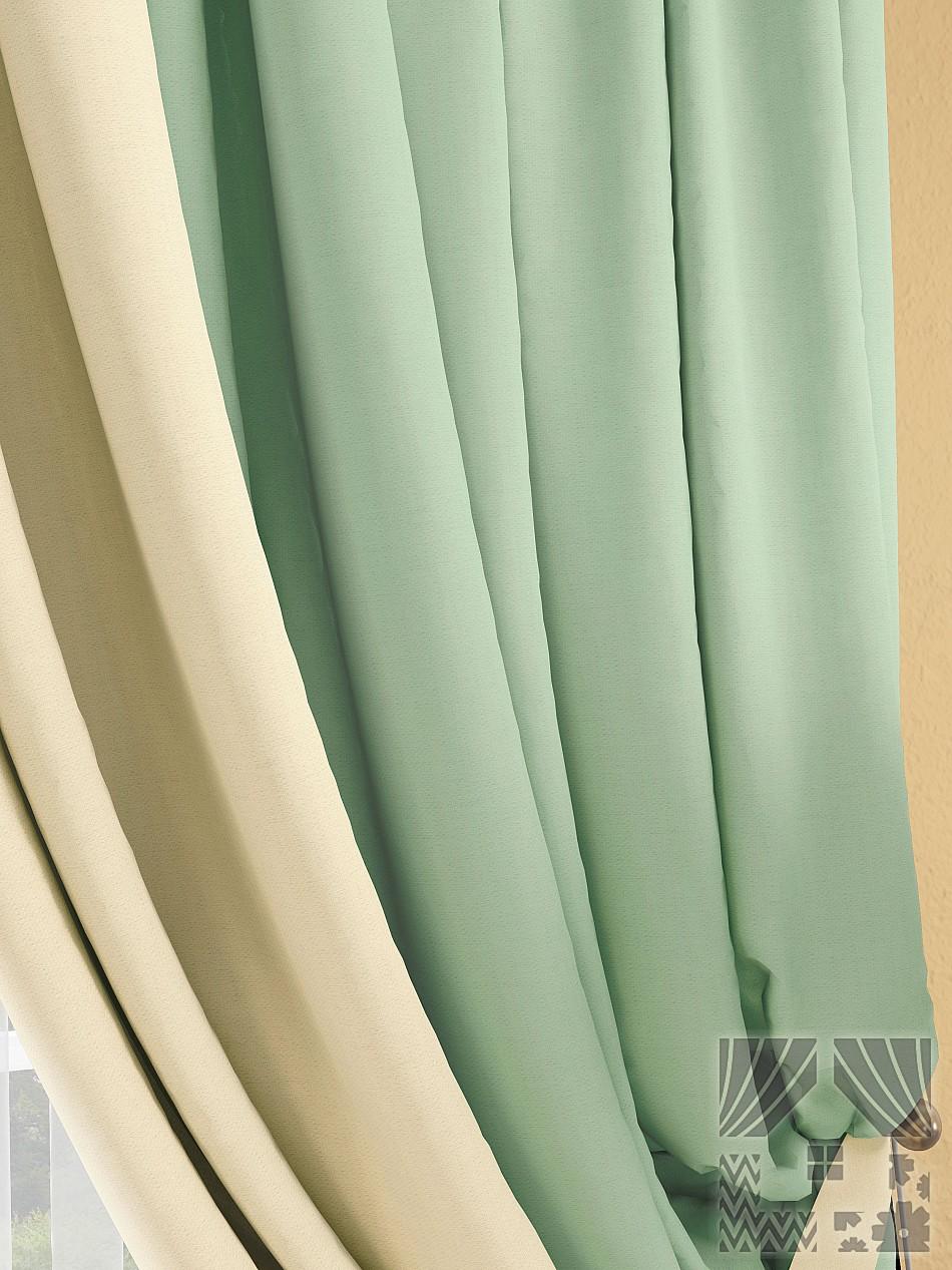 Шторы ТомДом Классические шторы Фонти Цвет: Мятный